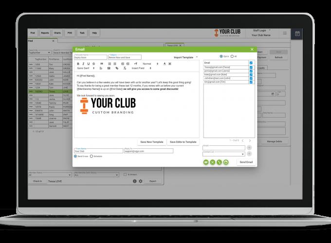 VIGYR Gym Management Software - Email Marketing 1