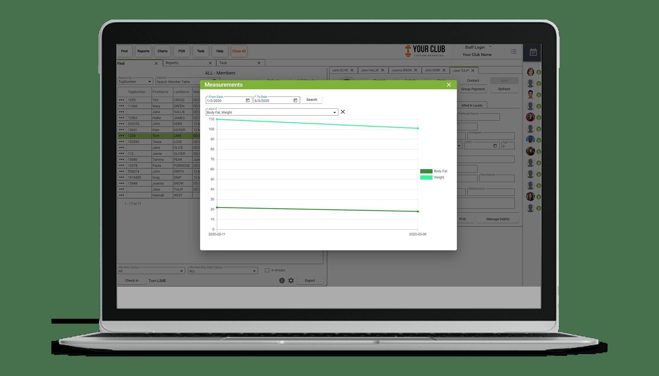 VIGYR Gym Management Software - Measurement Tracking 2
