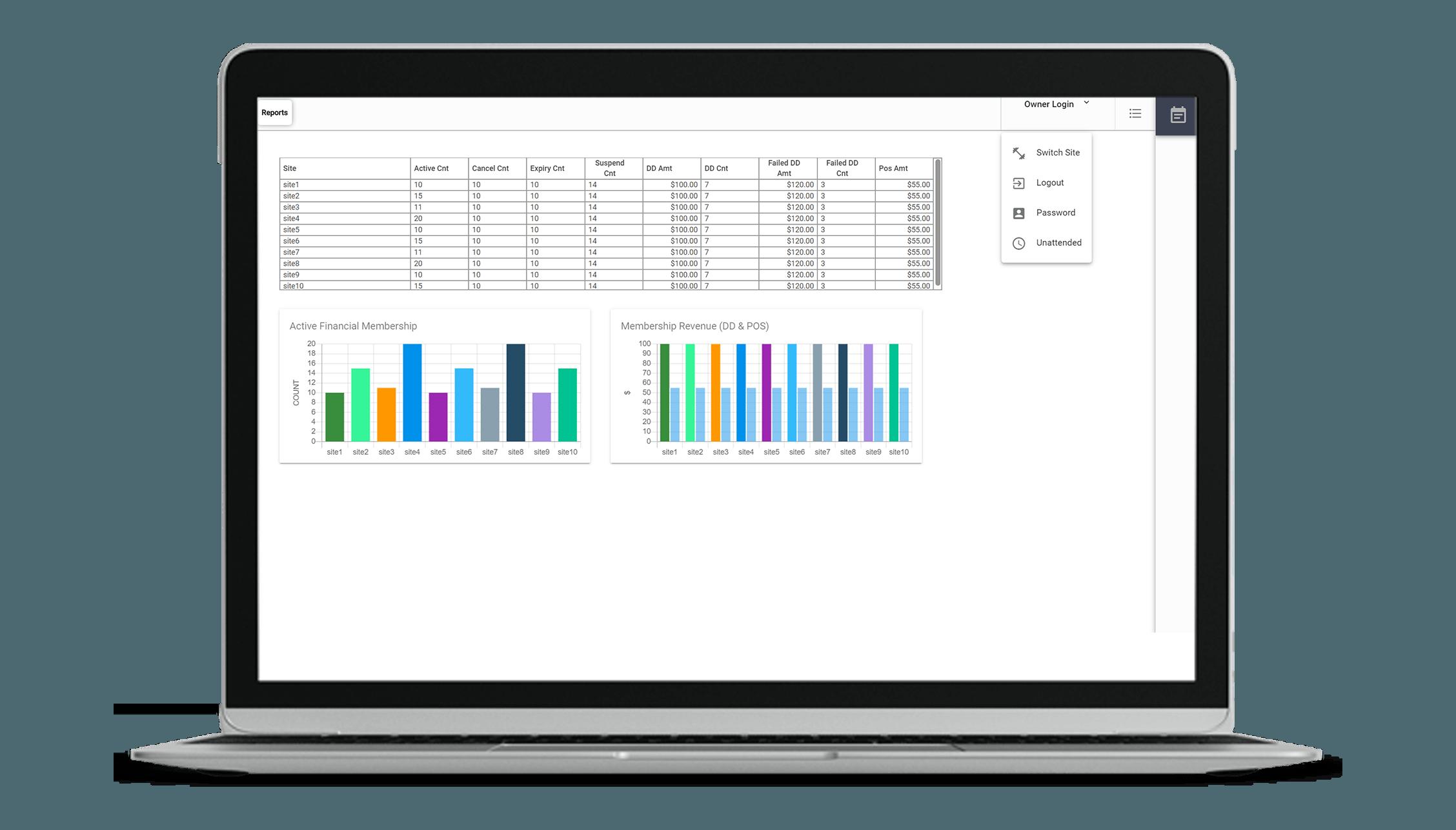 VIGYR Gym Management Software - Multi-Site Management 1