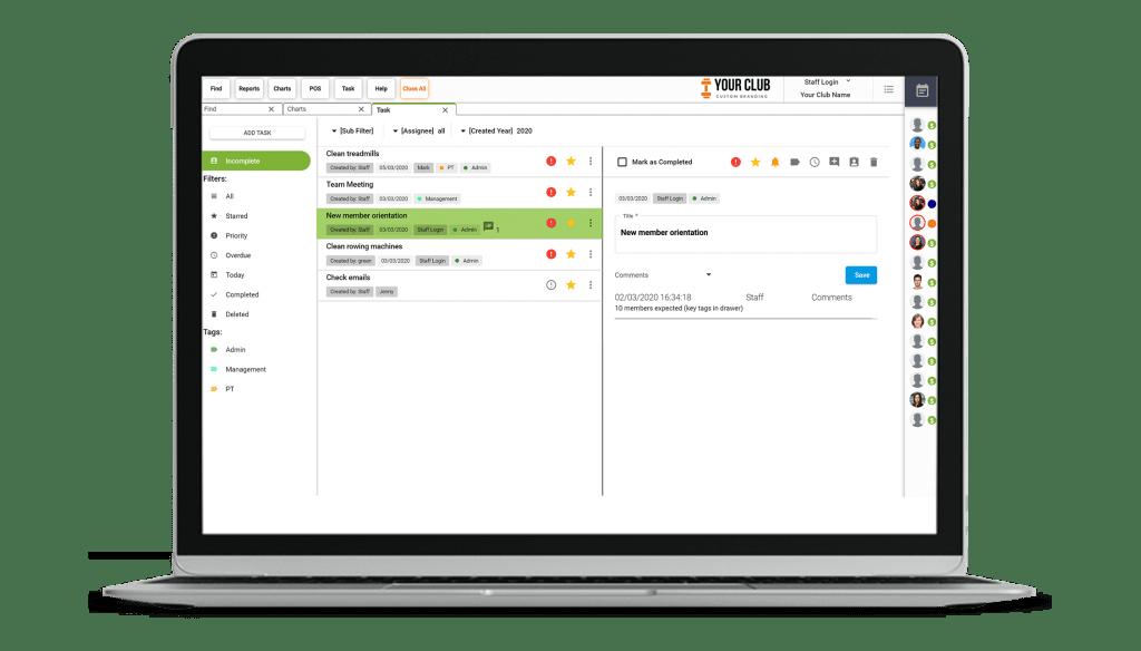 VIGYR Gym Management Software - Task Manager 1