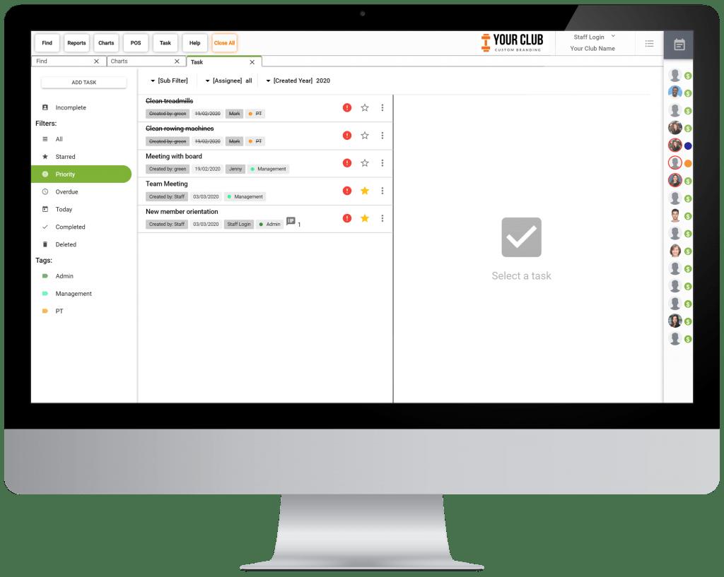 VIGYR Gym Management Software - Task Manager Big 2