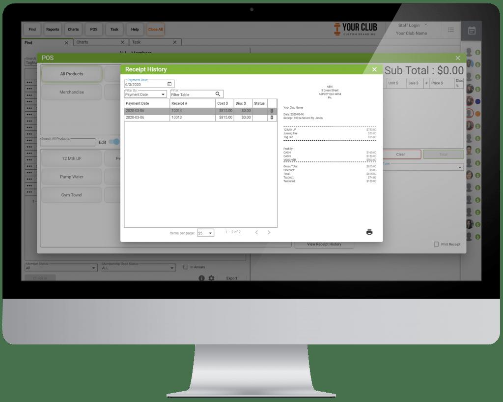 VIGYR Gym Management Software - Point of Sale System Big 3