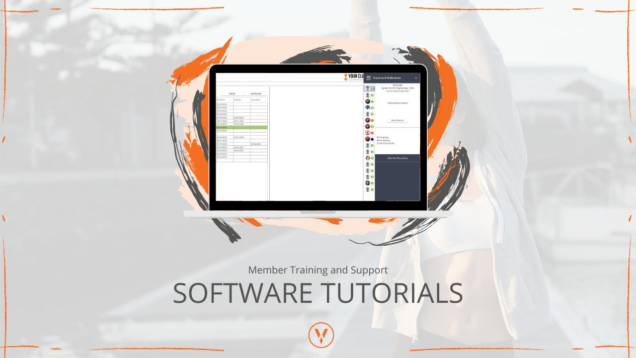 VIGYR Gym Software Tutorials - Software Tutorials