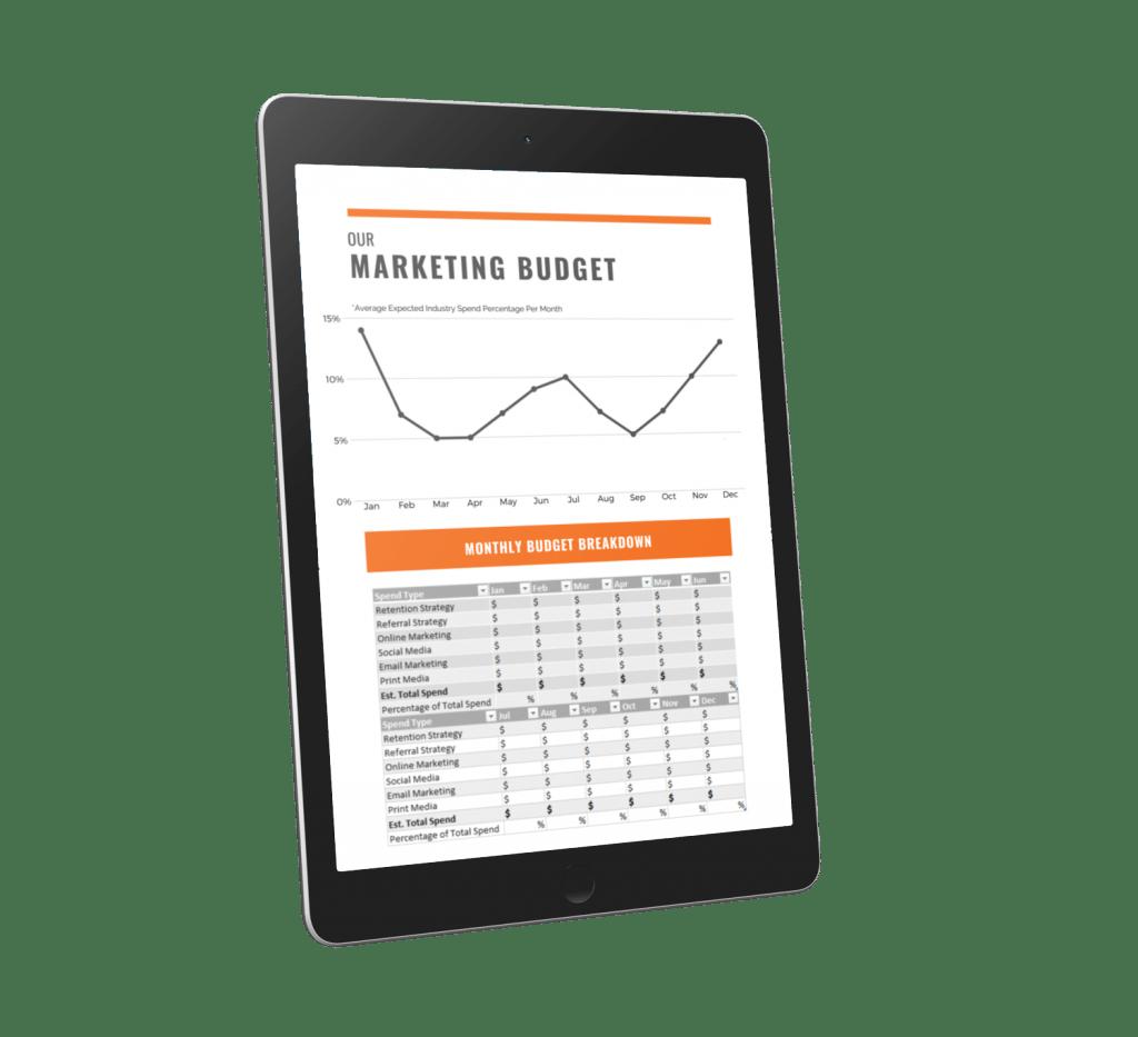 Free Gym Marketing Plan Budget Preview