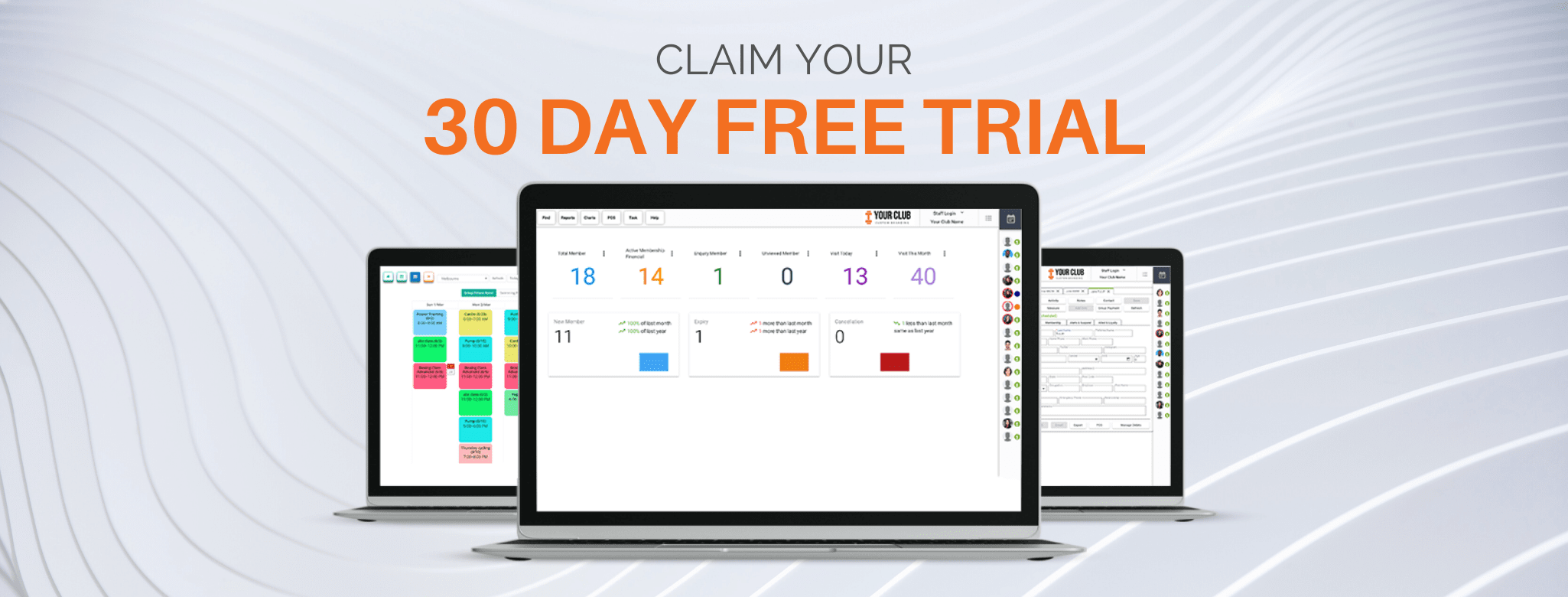 Gym Software Free Trial Banner