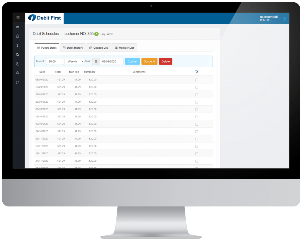 Personal Trainer Software Payment Scheduling