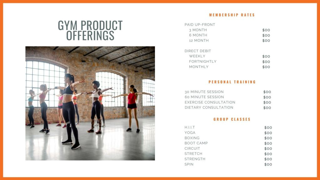 Personal Trainer Product Pricing Plan